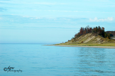 At Betse Point Lighthouse looking north Frankfort, Michigan