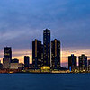 Detroit skyline taken from Winsor Canada