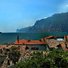 Town of Torbole on lake Garda in northern Italy